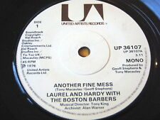 """LAUREL & HARDY with THE BOSTON BARBERS - ANOTHER FINE MESS  7"""" VINYL"""