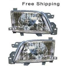 Halogen Head Lamp Assembly Set of 2 LH & RH Side Fits 2001-2002 Subaru Forester