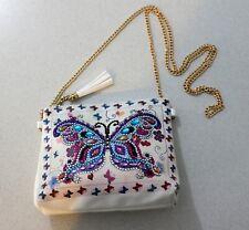 Shoulder Bag Butterfly Chain Link Purse Girls  Fashion Accessory Rhinestone Boho