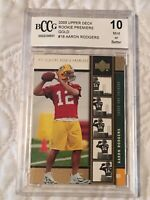 BCCG 2005 Upper Deck Rookie Premiere Gold #16 Aaron Rodgers 10 mint or better SP