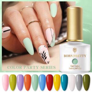 BORN PRETTY 7ml Color Party Nail Gel Colorful Soak Off Manicure UV Gel Polish