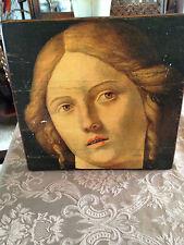 Vintage G B Cima da Conegliano Pitcure on Wood Head of a Woman