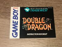 Double Dragon Instruction Manual Booklet Nintendo Game Boy Authentic