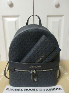 Michael Kors Kenly Medium Backpack & Wallet Set Admiral 35T0SY9B6B NWT