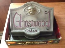 Gemmy Animated LIGHT-UP HAUNTED GRAVESTONE Sound and Motion Activated!