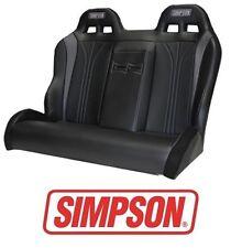 Simpson Vortex Rear Bench Seat - Black / Black 14-17 Polaris RZR XP 1000 & Turbo