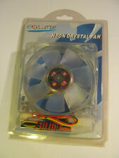 EXCELLENCE NEON  CRYSTAL 8cm  (80X80X25mm) Fan with RED BLUE GREEN LED'S