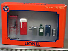LIONEL CITY ACCESSORY PACK figure O gauge pewter metal phone booth news 6-24197