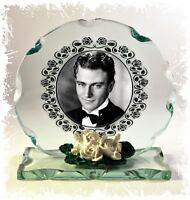 John Wayne Movie Film Star Rare Photo Cut Glass Round Plaque Limited Edition #4