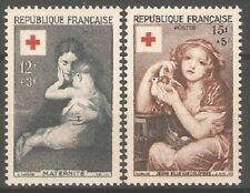 France - 1954 Red Cross Fund Sg1232-3 MNH ( Cat. £40.00p )