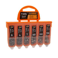 MIDDY Fishing  Twin Cut  Shot Dispenser (6-Compartment) Line weights shots  1503