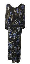 Carol Anderson Black Floral Dress Mock 2Pc Size 12