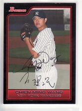 CHIEN-MING WANG NEW YORK YANKEES  AUTOGRAPHED CARD