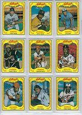 1981 Kellogg's Baseball Cards complete set of 66 3-D Super Stars