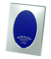 "Oval Silver Photo Picture Frame 4x6"", 5x7"", 6x8"" & 8x10"" - Shiny Silver Plated"