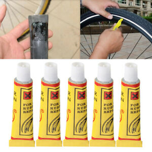 5Pcs Bike Bicycle Tire Tube Patching Glue Cement Puncture Rubber Repair Tools