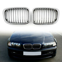 Front Valla Parrilla Rejilla ABS Chrome Mesh Para BMW E46 4D 98-2001 3 Series A