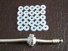 Arrêt Stopper charm LOT 25 anneaux silicone  bracelet Pandora Chamilia Soufeel