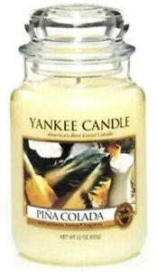 Yankee Candle🥥 PINA COLADA🍍 22 oz Large jar USA RARE HTF Original Logo New