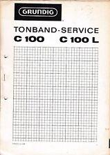 Service Manual-Anleitung für Grundig C 100