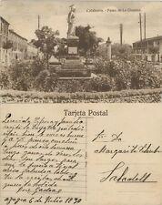 Postal. CALAHORRA. Logroño. Paseo de la Glorieta. Azagra (Navarra). 6/7/1930.