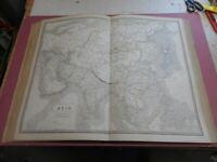100% ORIGINAL LARGE ASIA  MAP BY JOHNSTON NATIONAL ATLAS C1857 VGC