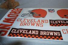 """SKINIT Huge 25"""" Wide NFL Team CLEVELAND BROWNS Tailgate Skins DECAL SHEET NEW"""