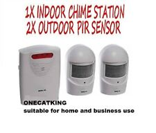 A9b Blanco Wireless Weatherproof jardín, Calzada, garaje, ladrón o visitante Alarma
