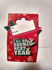 Disney Pin 3D Tinkerbell I'll Be Good Next Year By Walt Disney World 2009 pin96