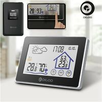 Digoo Wireless Touch Screen Hygrometer Thermometer Weather Station CLock Sensor