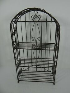 Wire Metal Display 3 Shelves Table Top Wall Hanging Arch Shape