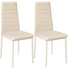 2x Esszimmerstuhl Set Stühle Küchenstuhl Hochlehner Wartezimmer Stuhl beige neu