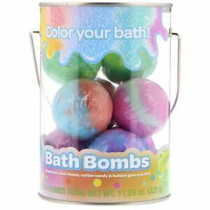 Crayola, Bath Bombs, Grape Jam, Laser Lemon, Cotton Candy & Bubble Gum Scented,