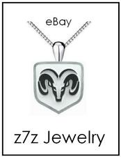 RAM TRUCKS Logo Necklace - SMALL silver emblem pendant jewelry auto dodge z7qq