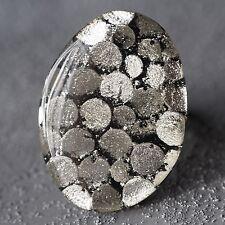 Neu RING mit CAPIZ MUSCHEL Farbe white/weiß/silber GRÖßENVERSTELLBAR Fingerring