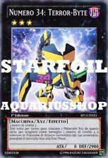 Yu-Gi-Oh! Numero 34 Terror Byte STARFOIL SP13-IT025 Terror-Byte forte carta yuma