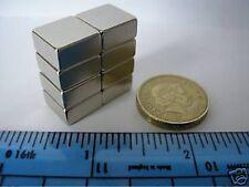 "4 of 1/2"" sq. x 1/4"" Block Magnets Neodymium 12mm 13mm 6mm square Rare Earth"