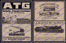 orig Reklame ATG Leipzig Transportanlagen Seilbahn Maschinenbau Kran Bagger 1922