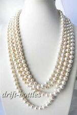 100'' 10mm Round White Freshwater Pearl Necklace