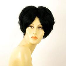 perruque femme 100% cheveux naturel courte noir ref WANDA 1b
