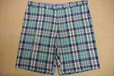 """NEW NWT TOMMY HILFIGER MENS CASUAL SHORTS SIZE 40W x 11IN 40"""" WAIST TEAL BLUE"""