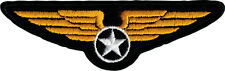 22016 Military Crest Badge Iron Sew On Patch Air Pilot Wings Star Airforce Force