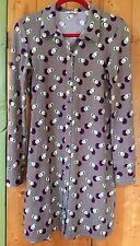 PENGUIN by Munsingware Print Pattern Long Sleeve Shirt Dress Blouse Top Womens S