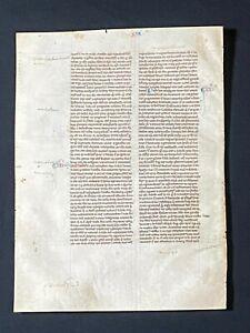RARE Early Medieval Manuscript Vellum Bible Leaf, ENGLAND (Oxford), c.1250