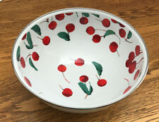 POTTERY BARN SERVE BOWL ~ CHERRY ENAMEL ~ BPA Free ~ NEW WITH TAGS