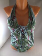 NWT NWOT Liberty Exotic Palm Print 1pc Swimsuit Sz M Anais Liberty Classis READ