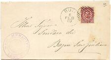 P8908   Annullo numerale a sbarre, Pisa, Buti, 1889