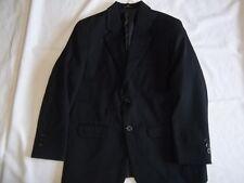 Boys IZOD Black 8% Wool BLAZER JACKET Size 10 H Husky Dress Suit Coat