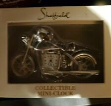 Sheffield Collectible Mini Motorcycke Clock NEW Original Packaging