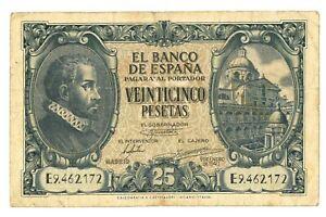 Spain - 25 Pesetas Banknote - 1940 - F